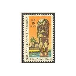 1 عدد تمبر صدمین سالگرد پارکهای ملی- آمریکا 1972