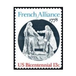 1 عدد تمبر اتحاد فرانسه - آمریکا 1978