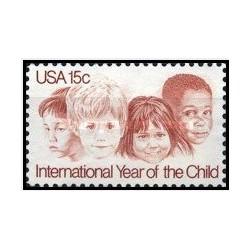 1 عدد تمبر سال جهانی کودک - آمریکا 1979