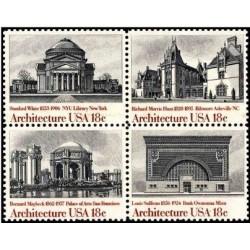 4 عدد تمبر معماری آمریکایی - آمریکا 1981