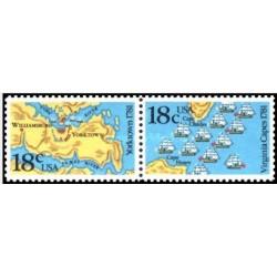 2 عدد تمبر 200مین سالگرد آمریکا - آمریکا 1981