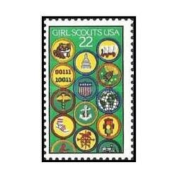 1 عدد تمبر پیش آهنگی دختران - آمریکا 1987