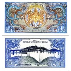اسکناس 1 نگولتروم - بوتان 1986