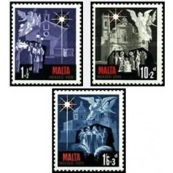 3 عدد تمبر کریسمس - مالت 1970