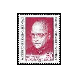 1 عدد تمبر صدمین سالگرد تولد کاردینال فون پریزنگ - برلین آلمان 1980