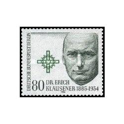 1 عدد تمبر پنجاهمین سال  مرگ دکتر اریش کلوزنر - سیاستمدار - برلین آلمان 1984
