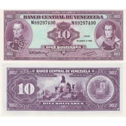 اسکناس 10 بولیوار - ونزوئلا 1992