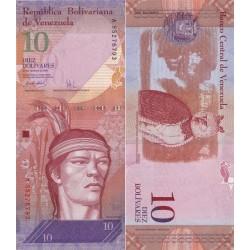 اسکناس 10 بولیوار - ونزوئلا 2007