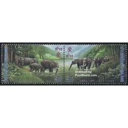 2 عدد تمبر بیستمین سال روابط دیپلماتیک با چین - تایلند 1995