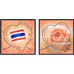 2 عدد تمبر معطر ولنتاین - رز - سنبل عشق - تایلند 2013