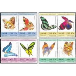 8 عدد تمبر پروانه ها - سنت لوئیس 1985