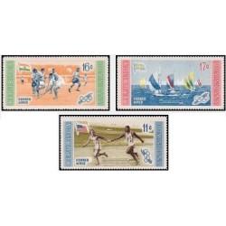 3 عدد تمبر بازیهای المپیک - ملبورن استرالیا 1956- پیرزوی ورزشکاران  - جمهوری دومنیکن  1958