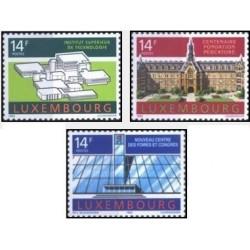 3 عدد تمبر ساختمانهای قابل توجه - لوگزامبورگ 1992