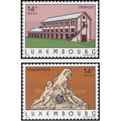 2 عدد تمبر جهانگردی - لوگزامبورگ 1993