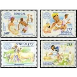 4 عدد تمبر پنجاهمین سالگرد F.A.O - سنگال 1995