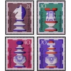 4 عدد تمبر رفاه اجتماعی - مهره های شطرنج - جمهوری فدرال آلمان 1972
