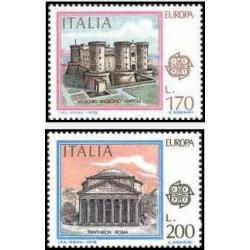 2 عدد تمبر مشترک اروپا - Europa Cept - ایتالیا 1978
