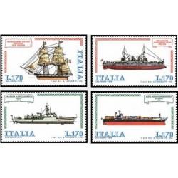 4 عدد تمبر کشتیها - ایتالیا 1978
