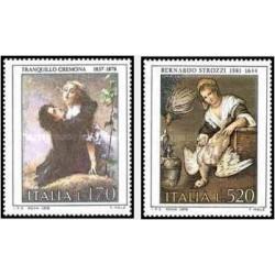 2 عدد تمبر هنر ایتالیایی - تابلو نقاشی - ایتالیا 1978
