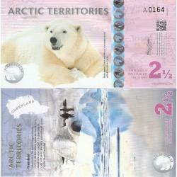 اسکناس پلیمر 2/5 دلار - قطب شمال 2013
