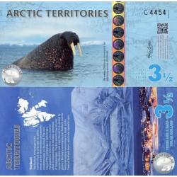 اسکناس پلیمر 3/5 دلار - قطب شمال 2014