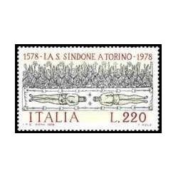 1 عدد تمبر 400مین سالگرد انتقال کفن مقدس از ساووی به تورین - ایتالیا 1978