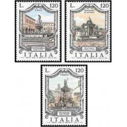 3 عدد تمبر آبنماهای معروف - ایتالیا 1978