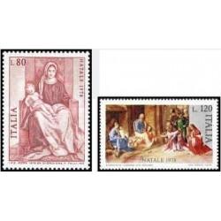 2 عدد تمبر کریسمس - ایتالیا 1978