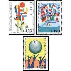 3 عدد تمبر روز تمبر - ایتالیا 1978