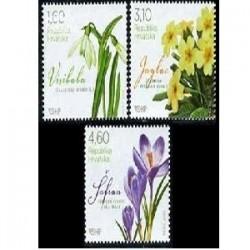 3 عدد تمبر گلهای بهاری - کرواسی 2012