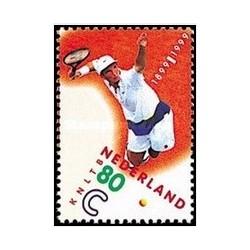 1 عدد تمبر صدمین سالگرد اتحادیه تنیس سلطنتی - هلند 1999