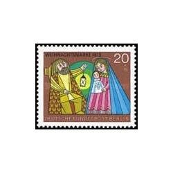 1 عدد تمبر کریسمس - برلین آلمان 1972