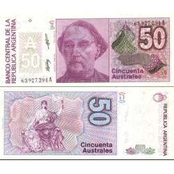 اسکناس 50 اوسترال - آرژانتین 1988