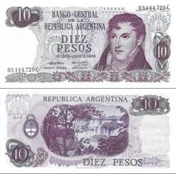 اسکناس 10 پزو - آرژانتین 1973