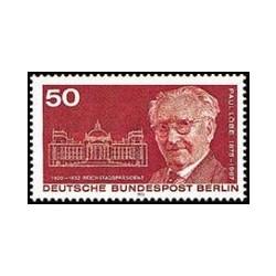 1 عدد تمبر صدمین سالگرد تولد پل لوب - رئیس پارلمان - برلین آلمان 1975