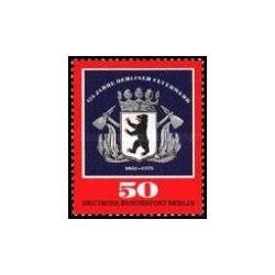 1 عدد تمبر 125مین سالگرد آتش نشانی در برلین - برلین آلمان 1976
