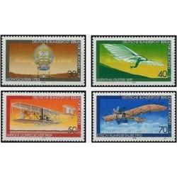 4 عدد تمبر رفاه جوانان - حمل و نقل هوایی - برلین آلمان 1978