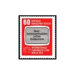 1 عدد تمبر نمایشگاه تله در برلین - برلین آلمان 1979