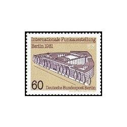 1 عدد تمبر نمایشگاه رادیو - برلین آلمان 1981