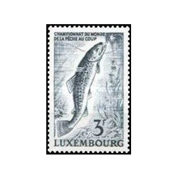 1 عدد تمبر مسابقات جهانی ماهیگیری - فلای فیشینگ - لوگزامبورگ 1963
