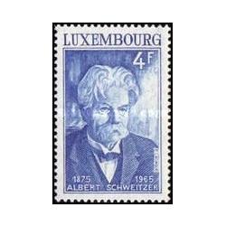 1 عدد تمبر صدمین سالگرد تولد دکتر آلبرت شوایتزر ، 1875 - 1965 - با تب - لوگزامبورگ 1975