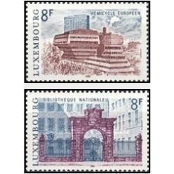 2 عدد تمبر ساختمنها - لوگزامبورگ 1981