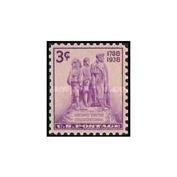 1 عدد تمبر سرزمینهای شمال غربی - آمریکا 1938