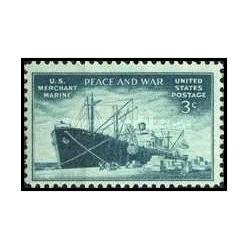 1 عدد تمبر ناوگان بازرگانی - آمریکا 1946