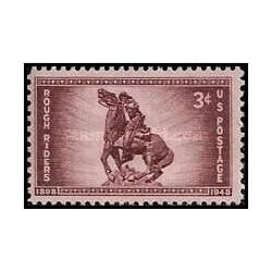 1 عدد تمبر 50مین سالگرد سواران خشن - آمریکا 1948
