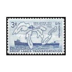 1 عدد تمبر صدمین سالگرد قفل سو - آمریکا 1955