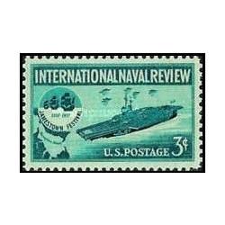 1 عدد تمبر بررسی بین المللی نیروی دریایی - آمریکا 1957