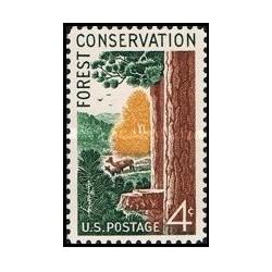 1 عدد تمبر حفاظت از جنگلها - آمریکا 1958