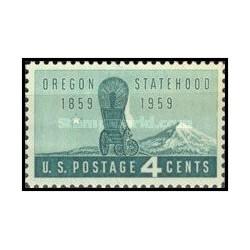 1 عدد تمبر صدمین سالگرد ایالت اورگان - آمریکا 1959
