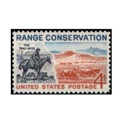 1 عدد تمبر حفاظت از محدوده - آمریکا 1961